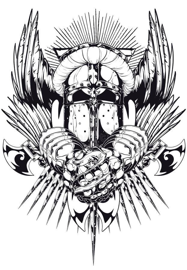 Anjo caído ilustração stock