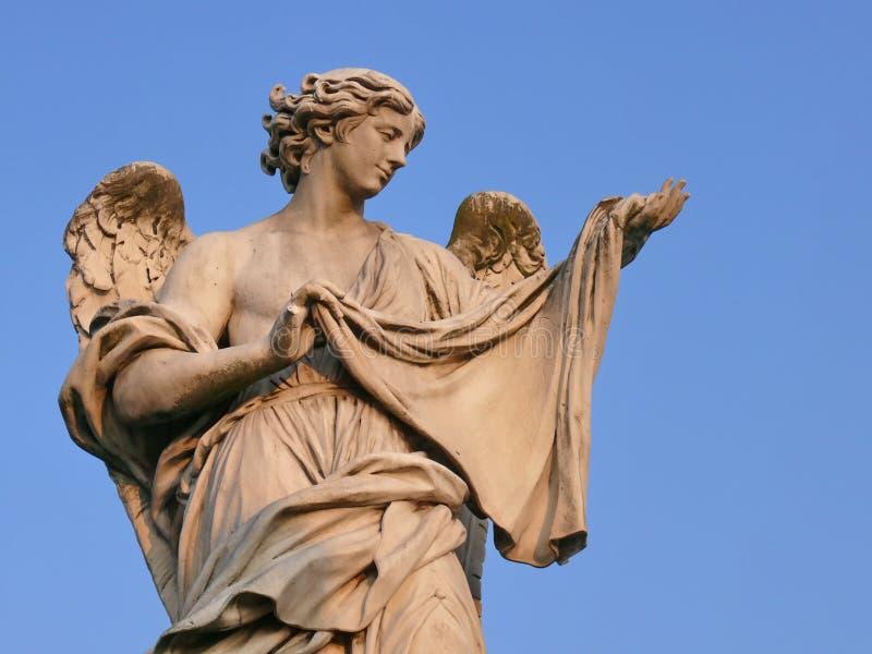 Anjo com Sudarium. Roma. fotos de stock royalty free