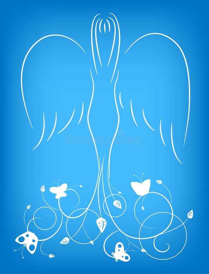 Anjo com um ornamento ilustração stock