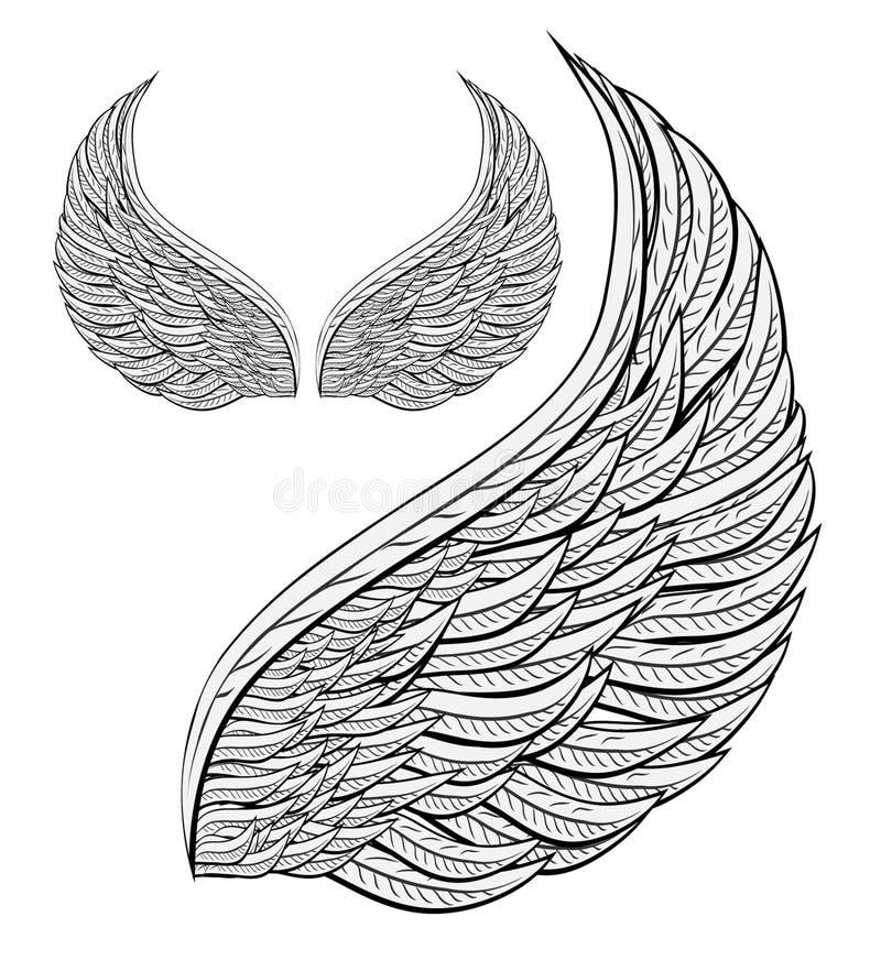 Anjo da asa ilustração stock