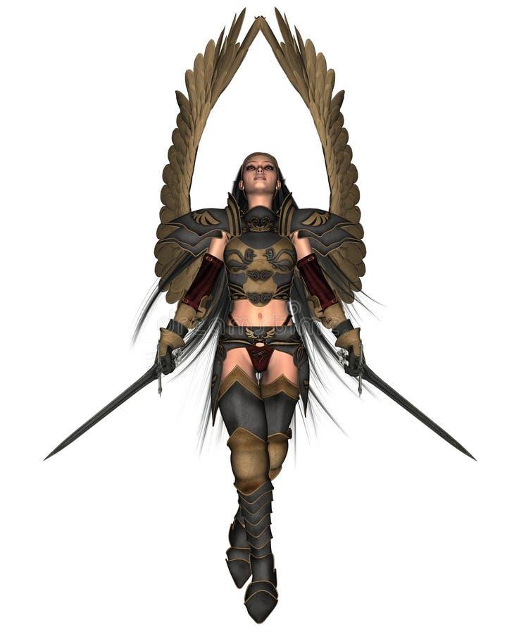 Anjo da batalha ilustração royalty free