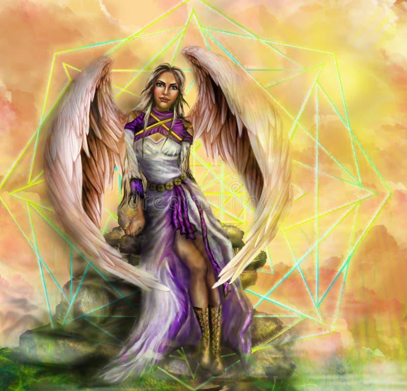 Anjo da ficção ilustração royalty free