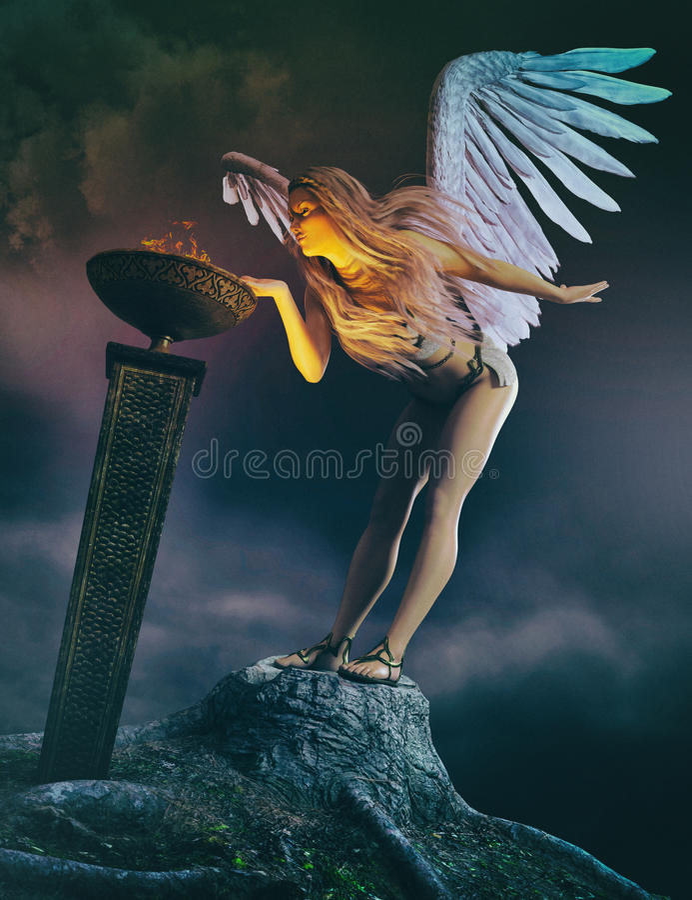 Anjo da guarda ilustração royalty free