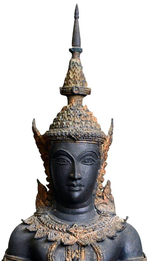 Anjo da guarda budista isolado no branco imagem de stock