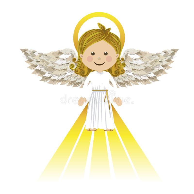 Anjo da guarda santamente ilustração royalty free