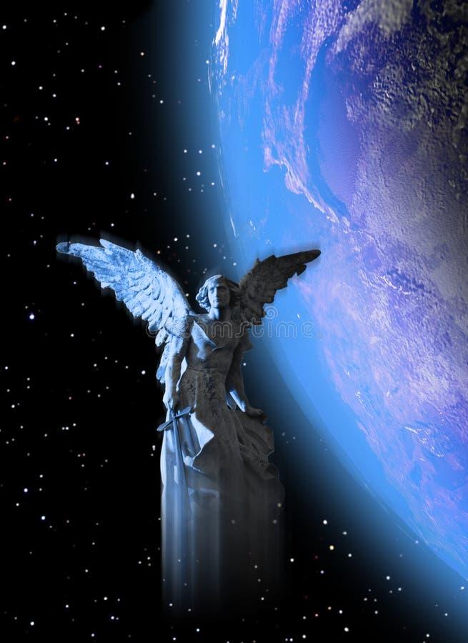 Anjo da guarda da terra ilustração royalty free