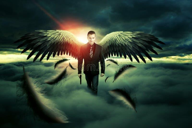 Anjo da morte imagens de stock