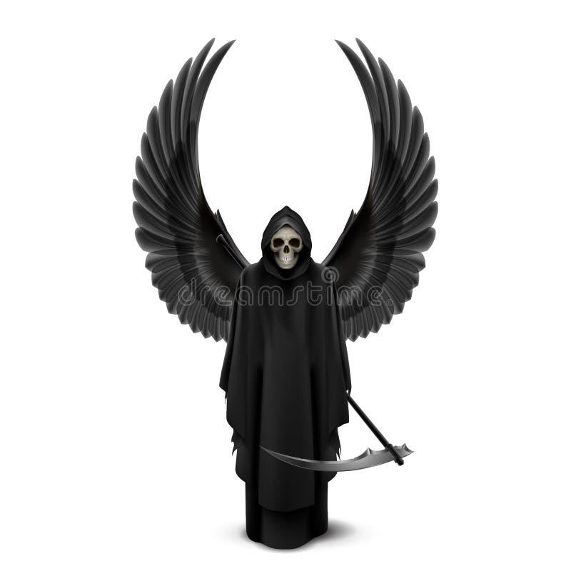 Anjo da morte com duas asas ilustração royalty free