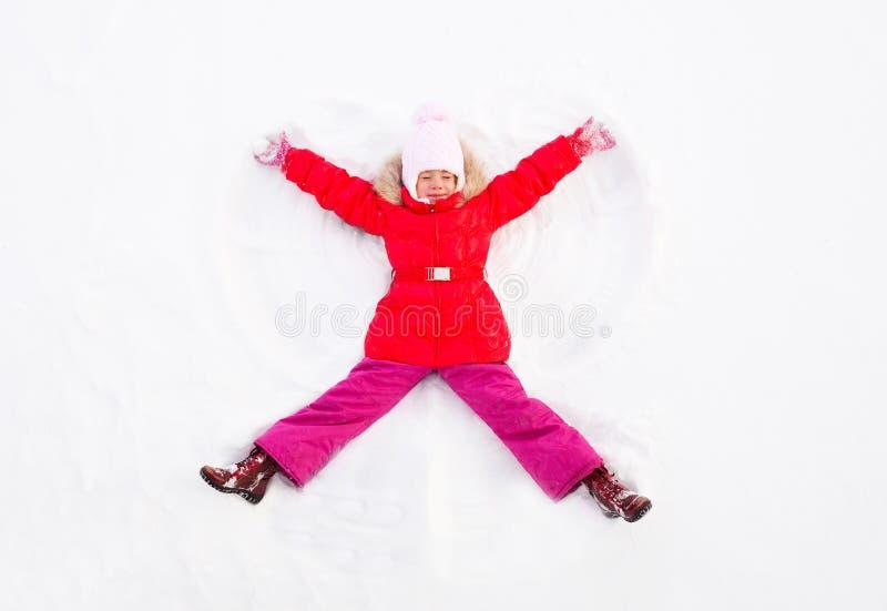 Anjo da neve imagem de stock