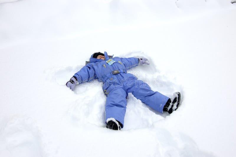 Anjo da neve imagens de stock