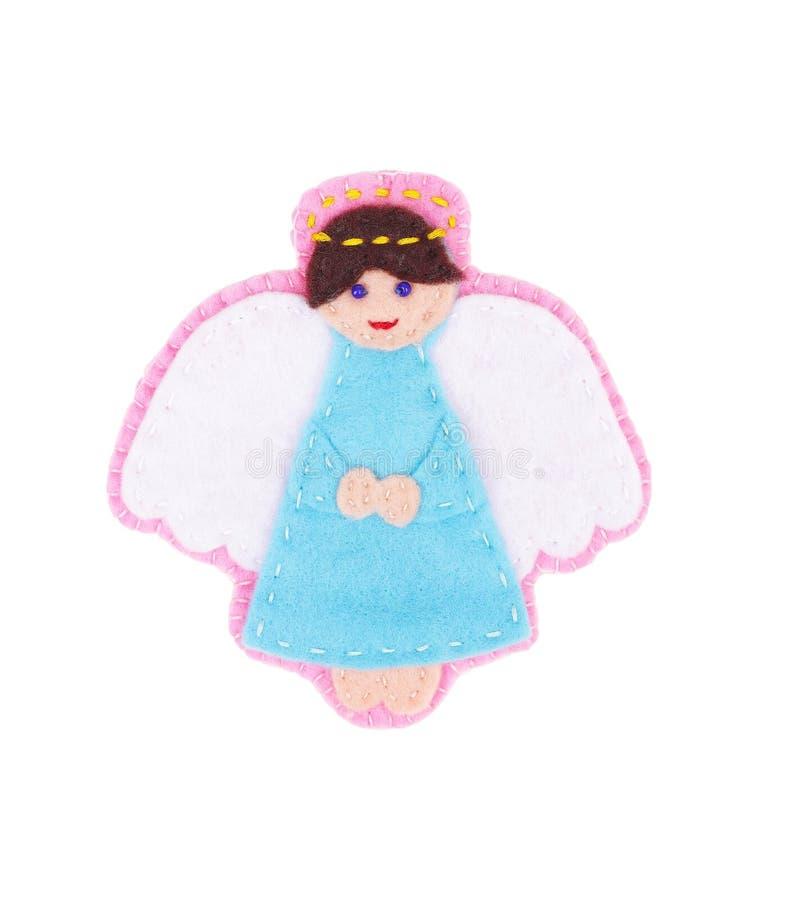 Anjo de Felted imagem de stock