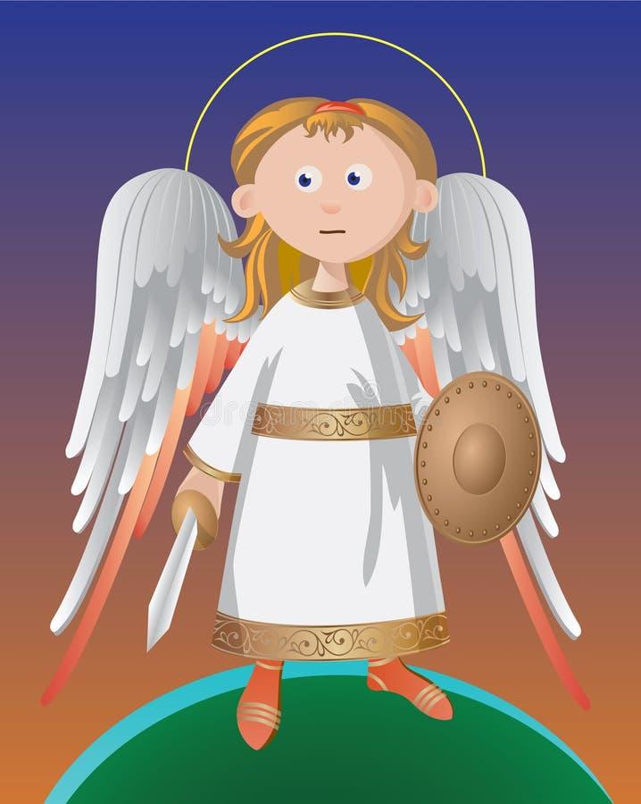 Anjo de guardião ilustração royalty free