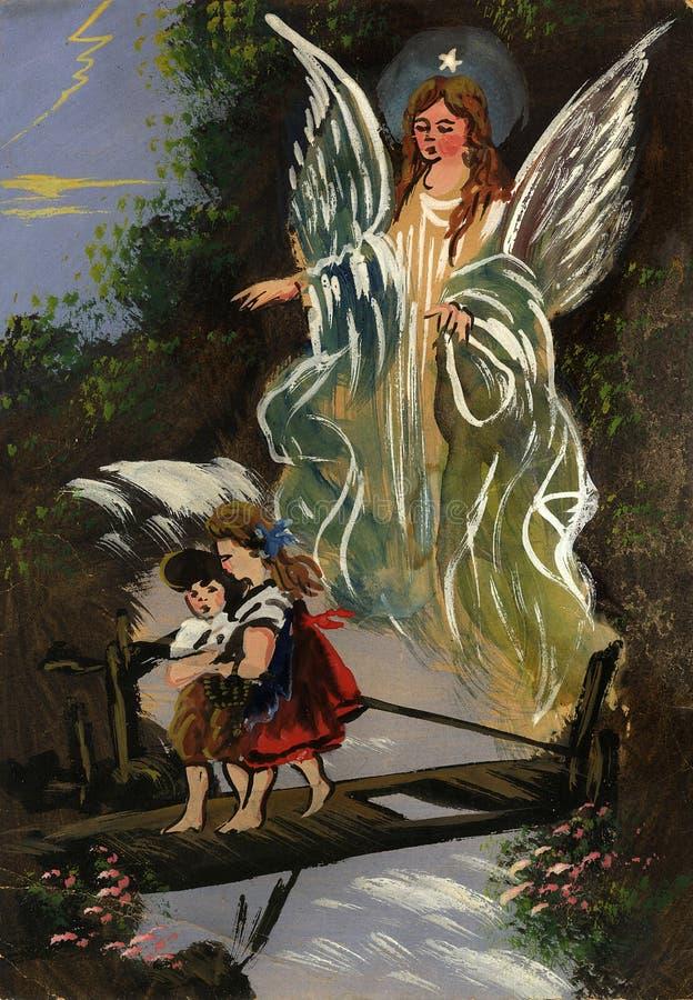 Anjo de guardião ilustração do vetor