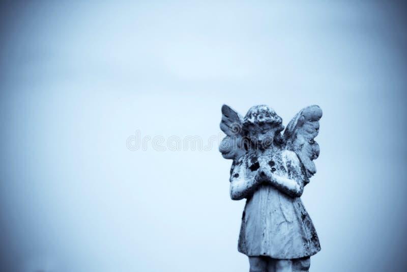 Anjo de pedra fotografia de stock