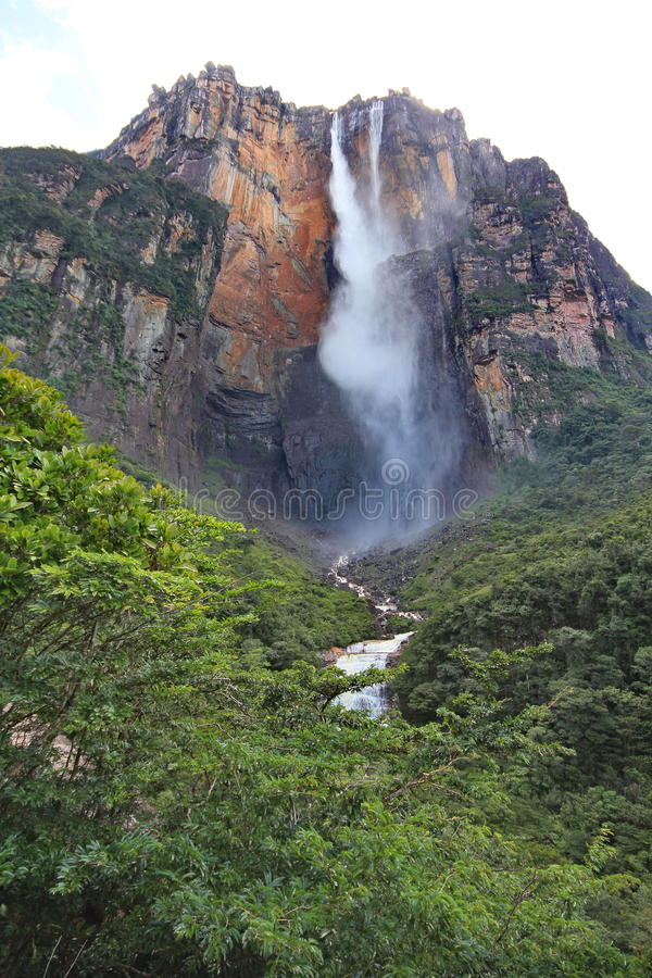 Anjo de Salto, Venezuela imagens de stock