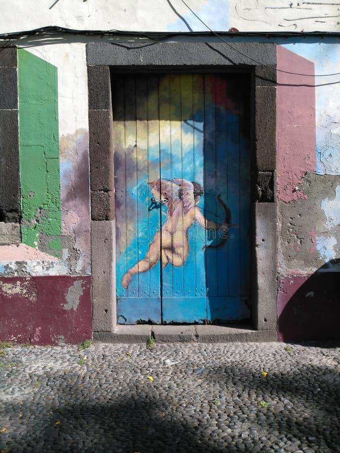 Anjo de Streetart Madeira fotos de stock