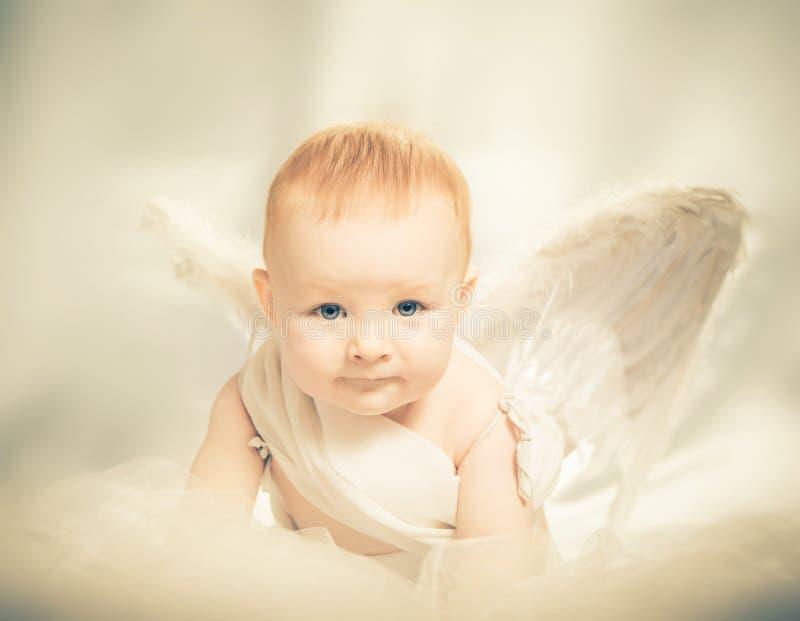 Anjo do bebê fotografia de stock