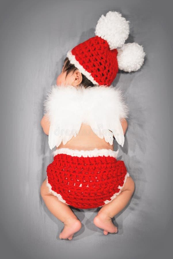 Anjo do bebê do sono fotografia de stock