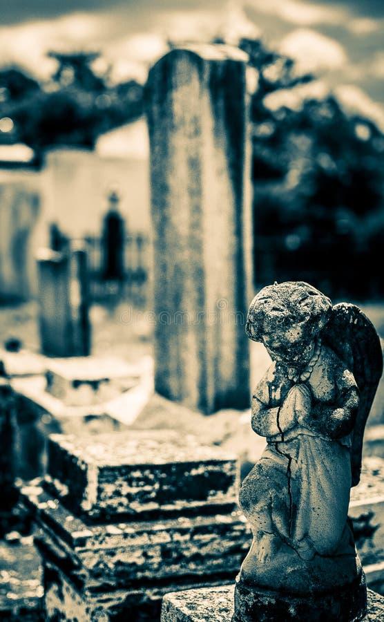 Anjo do cemitério de Nova Orleães Lafayette imagem de stock