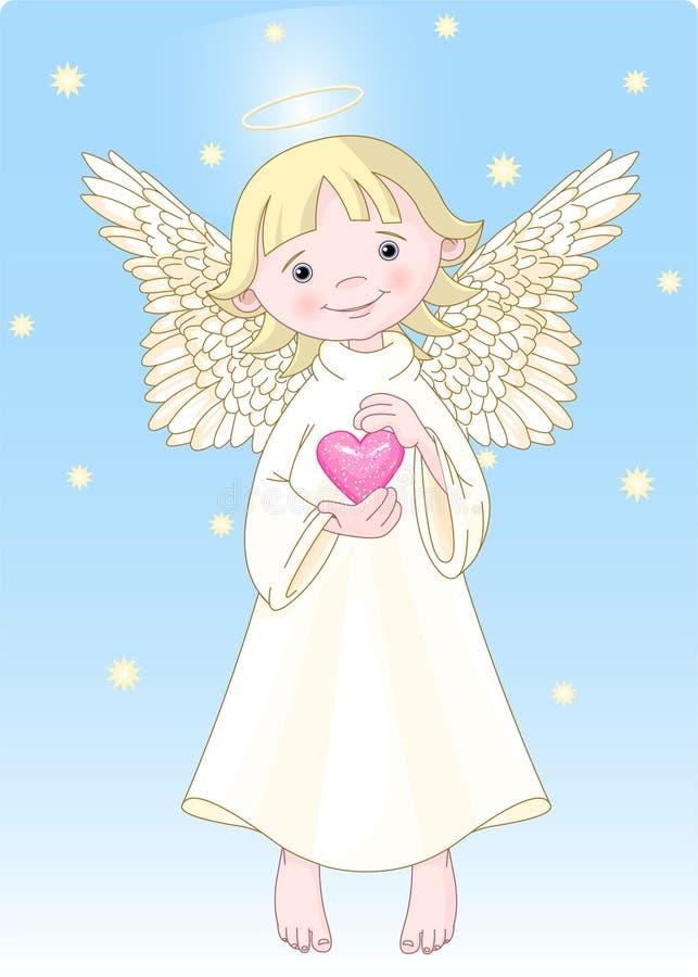 Anjo do coração ilustração royalty free