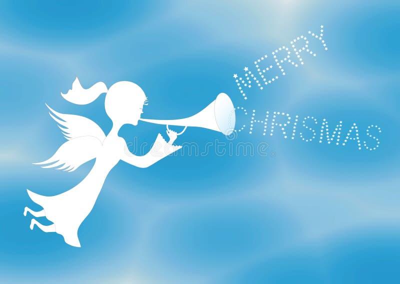Anjo do Feliz Natal ilustração stock