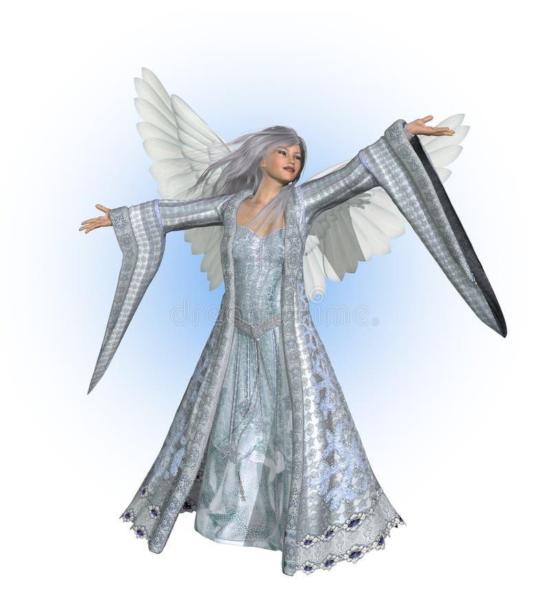 Anjo do inverno ilustração royalty free