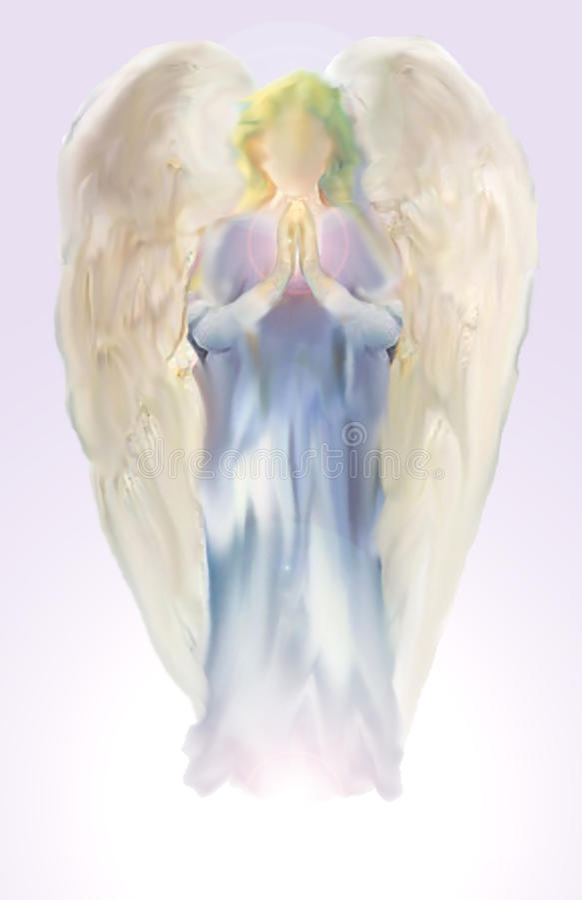 Anjo do Lilac ilustração stock
