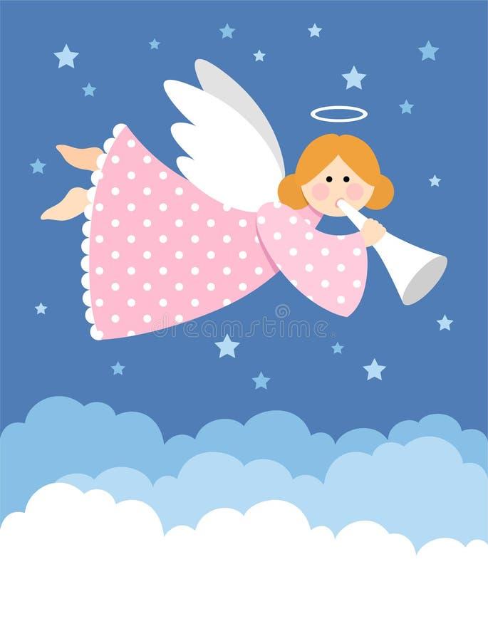 Anjo do Natal ilustração royalty free
