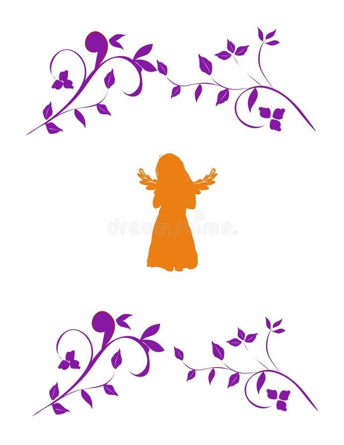 Anjo do outono ilustração stock