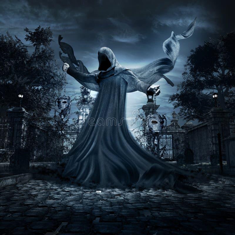 Anjo do tormento eterno ilustração stock
