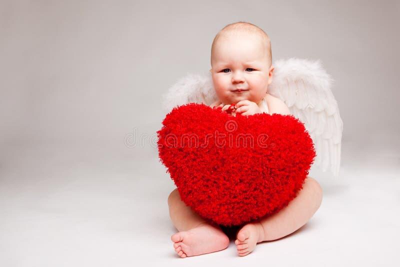 Anjo do Valentim imagem de stock