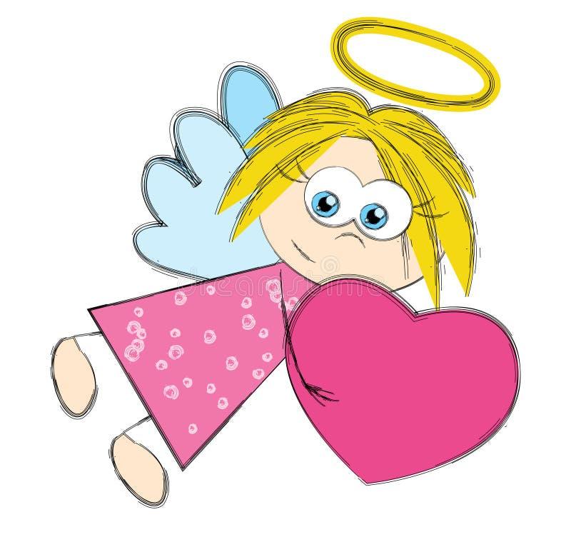 Anjo do Valentim ilustração stock