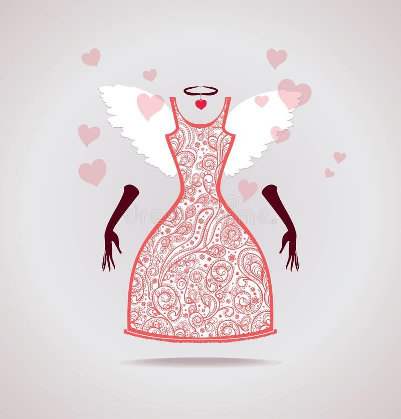 Download Anjo do vestido ilustração stock. Ilustração de atado - 65578012