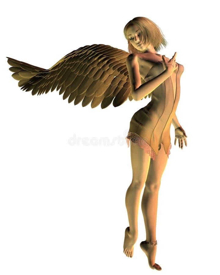 Anjo dourado ilustração do vetor