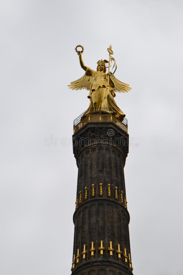 Anjo dourado Berlim foto de stock