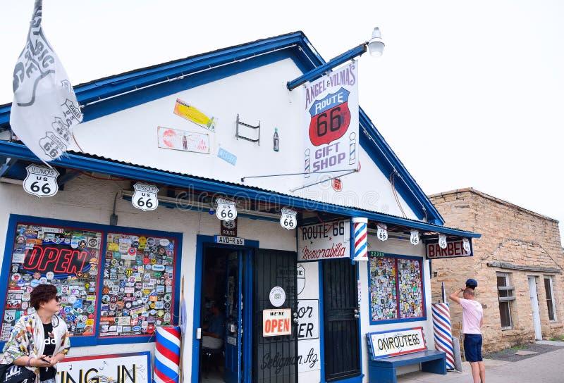Anjo e loja de lembranças de Vilmas Route 66 imagem de stock royalty free