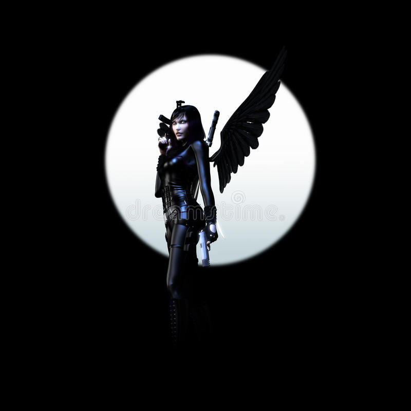 Anjo escuro 03 ilustração do vetor