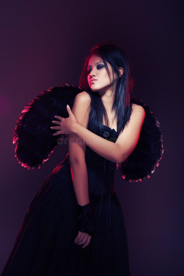 Anjo escuro foto de stock