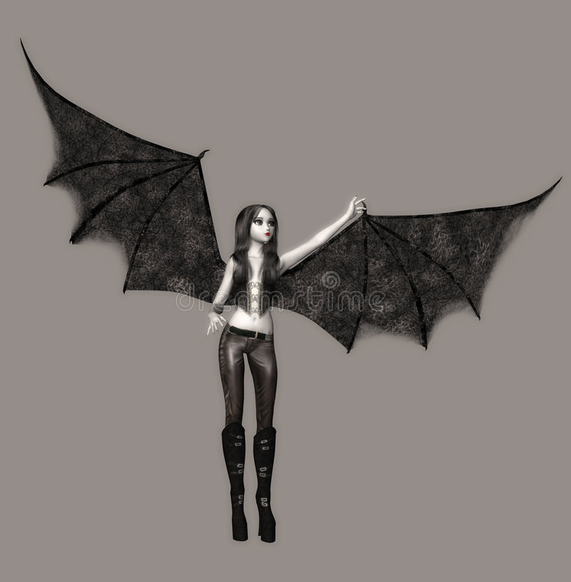 Anjo escuro ilustração royalty free