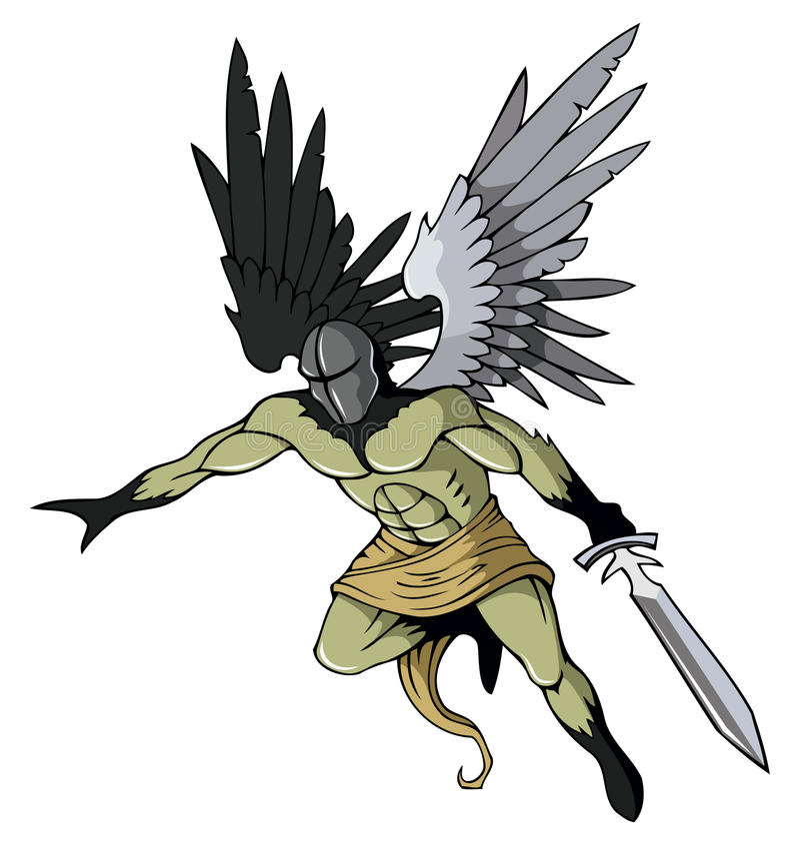 Anjo escuro ilustração do vetor