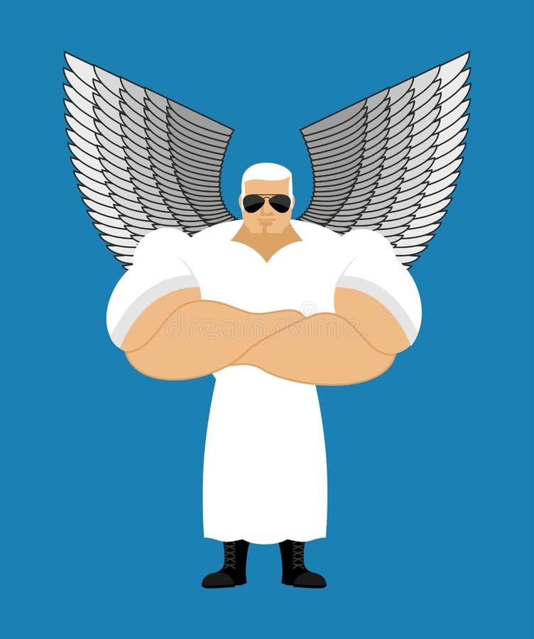 Anjo forte E r guardian ilustração stock