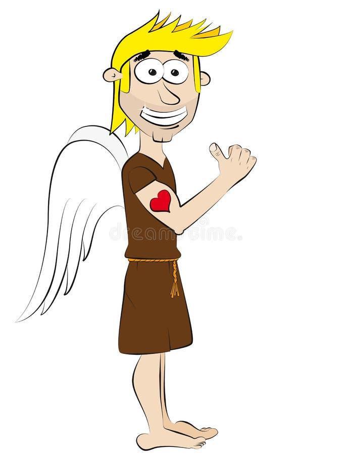 Anjo, gajo fresco ilustração stock
