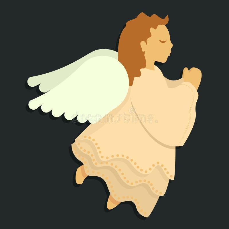 Anjo na oração ilustração royalty free