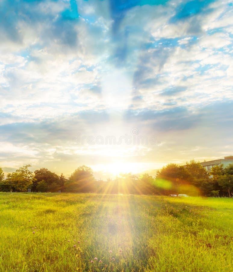 Anjo na paisagem no outono imagem de stock royalty free