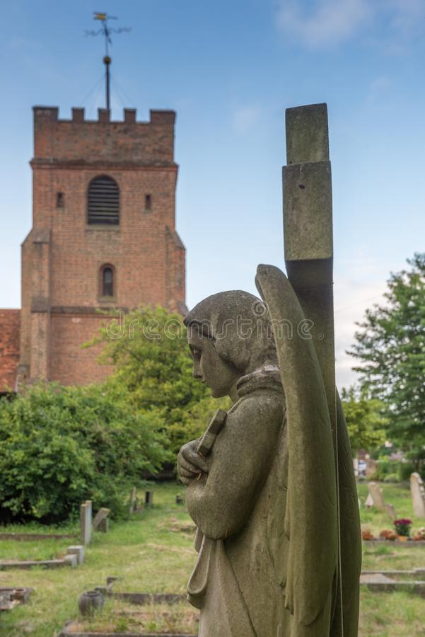 Anjo no cemitério foto de stock
