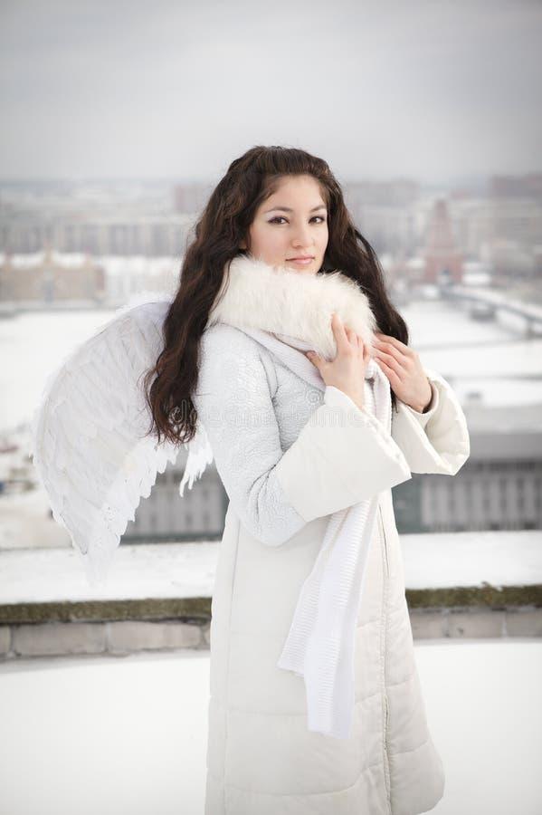 Anjo no telhado imagem de stock royalty free