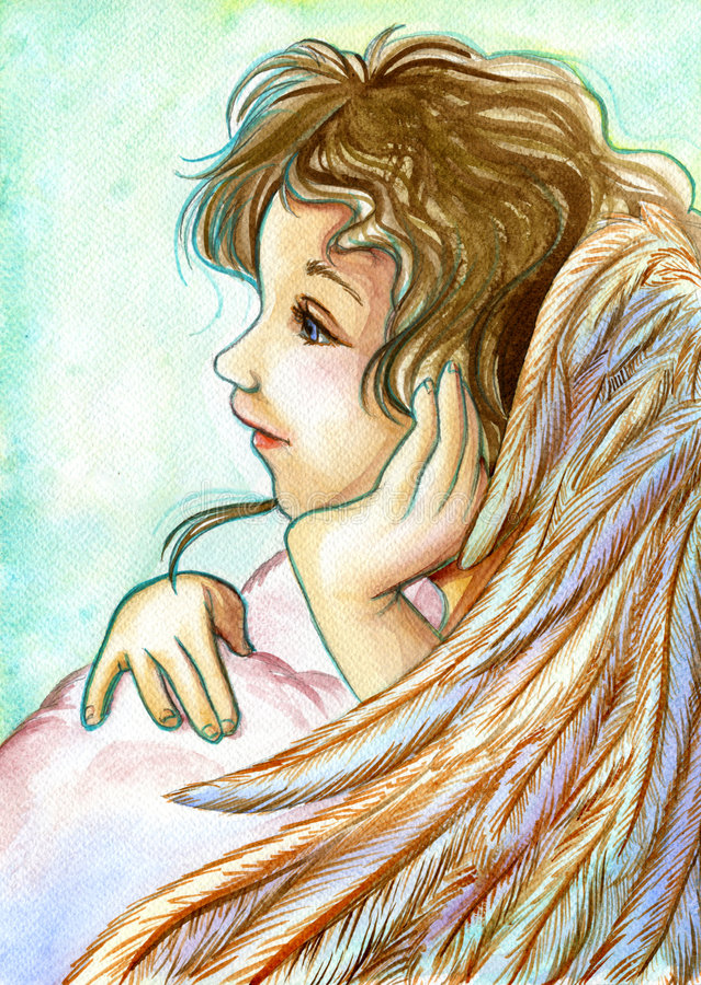 Anjo novo ilustração stock