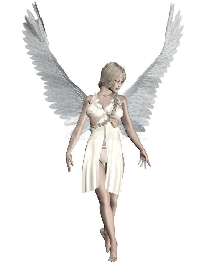 Anjo pálido ilustração do vetor