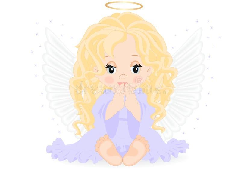 Anjo pequeno ilustração royalty free