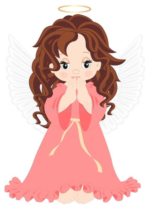 Anjo pequeno ilustração stock